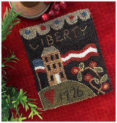 Cute Pattern, Pattern Design, Quilting Hoops, Christian Companies, Weavers Cloth, Little House Needleworks, Punch Needle Patterns, Dmc Floss, Patriotic Decorations