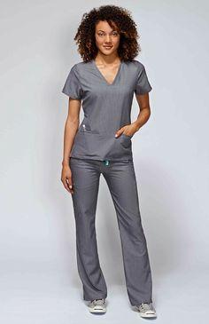 women's casma three-pocket scrub top - graphite – FIGS
