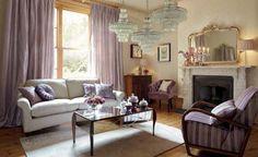 Soft Purple Living Room