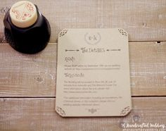 Download this FREE Wedding Invitation Template and print out as many copies as you need! ahandcraftedwedding.com. #wedding #printables