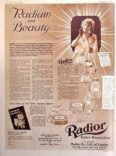 Radioactive makeup. Fatal fashion: 15 deadliest fashion and beauty trends in history.