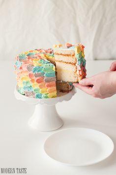Rainbow Petal Cake | Modern Taste