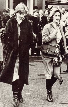 Lady Diana Spencer & Camilla Parker Bowles (I'm sorry, but I'll never accept Camilla, so it's a good thing I'm not British)