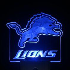 "Detroit Lions 4"" by 4"" LED Night Sensing Light"