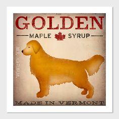 GOLDEN Retriever Maple Syrup