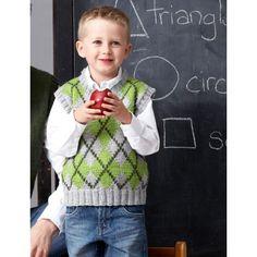 Intermediate Child's Vest Knit Pattern