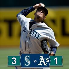Dustin and Abraham homer, Felix dominates in 3-1 #Mariners win over #Athletics. 4/5/14