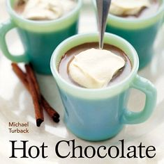 Yuuuuuuum! What else is there to say? 60 delicious recipes for real-deal hot chocolate and treats from chocolatiers and chefs from around the world. Sip and savor them all in the sweet sets of cups and saucers on this board!