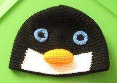 PENGUIN Animal Beanie Hat Baby Toddler Child Crochet Handmade Crocheted New on Etsy, $19.99