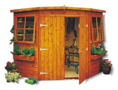 shire corner shed 7x7 timber corner building - Corner Garden Sheds 7x7