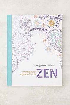 Coloring For Mindfulness Zen 50 Mandalas To Help You De Stress By Hamlyn Urbanoutfitters ComColoring BooksColouringAdult