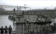 U-Boats ~ World War II Pictures In Details: German U-Boat Arm ~ U-861 at Trondheim Submarine Base ~ BFD