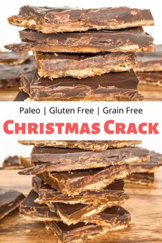 This Paleo Christmas Crack is a grain free, gluten free, and dairy free version of your favorite addicting sweet & salty holiday treat! # Easy Recipes gluten free Paleo Christmas Crack - grain free and gluten free Paleo Dessert, Bon Dessert, Paleo Sweets, Healthy Dessert Recipes, Paleo Food, Paleo Diet, Dessert Bread, Dairy Free Gluten Free Desserts, Dairy Free Baking