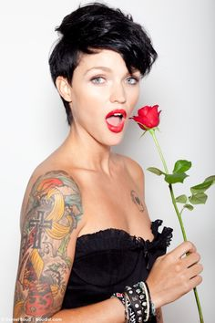 Ruby Rose - hair in this way! I'm inspired...