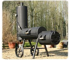 is a few weeks our new baby... oklahoma BBQ chuck wagon 16 inch.