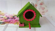 ATD Outdoor Eaves Wooden Birdhouse Sparrow Bird HouseSolid Wood Tiger Skins Peony Parrot Breeding BoxGreen *** This is an Amazon Associate's Pin. Click the image to visit the Amazon website.
