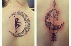 Los tatuajes de lunas y estrellas - http://www.tatuantes.com/los-tatuajes-de-lunas-y-estrellas/ #tattoo