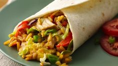 East meets west in this tasty combo that wraps Chicken Helper® chicken fried rice and rotisserie chicken into south-of-the-border tortillas for a family-pleasing dinner!