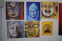 BUDDHA paintings by dragoslav milic
