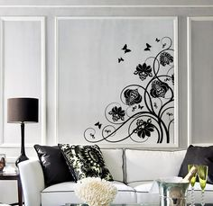 Wall Decal Beautiful Flowers Perfect Room Decor Art Vinyl Stickers (ig2799)