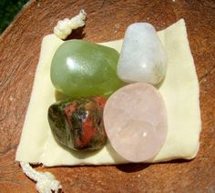 """Crystals for fertility and pregnancy Jade assists with fertility & child birth Moonstone is the """"woman's healing stone"""", for feminine healing & balancing of the female hormones & cycles, the BOMB-DIGGITY to have around during the birthing process. Rose Quartz is the """"bubble bath for the soul"""". Great for calming Mama & to powerfully increase fertility! Unakite is for harmonizing and balancing the reproductive system, also for healthy pregnancy."""