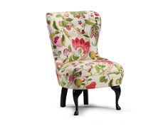 Envy fåtölj chair emmastol med blommönstrat tyg hos Furniturebox