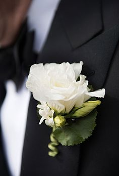 Brides.com: . He also donned a white rose boutonniere.