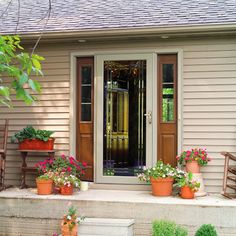 Full Glass Storm Door creates a beautiful view of the outdoors and is very inviting to your neighbors.