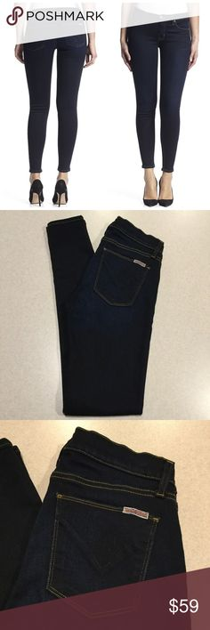 """Hudson Jeans 27X32 Krista Super Skinny Supermodel! Hudson Jeans Krista super skinny supermodel Delilah wash! (Modeled pictures are of exact fit and wash my lighting is just not as bright) Size 27 32 inch skinny fit inseam 15"""" across waist, 8"""" rise A pretty vibrant dark blue denim with lots of stretch! Only worn a few times Perfect condition! All of my items come from a smoke free, pet free home and are authenticity guaranteed. Please ask any questions, no returns for fit issues. 123-25…"""