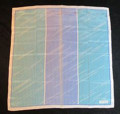Vintage Valentino Silk Scarf Geometric Blues Purples | eBay