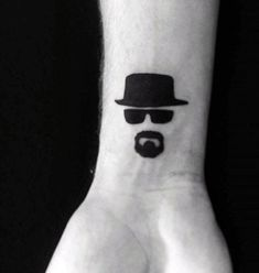 Small Simple Guys Breaking Bad Wrist Tattoo Design Ideas For Men
