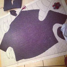 Drape Drape 2: Pattern No 4 Asymmetric Scoop neck shirt...as seen on Great british sewing bee