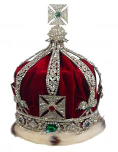 """"""" The Imperial Crown of India was made for King George V to wear at the Delhi Durbar in when he was acclaimed Emperor of India. The Imperial State Crown cannot be taken out of England. The Imperial Crown of India will. British Crown Jewels, Royal Crown Jewels, Royal Crowns, Royal Tiaras, Royal Jewelry, Tiaras And Crowns, Jewellery, Bling Jewelry, St Edward's Crown"""
