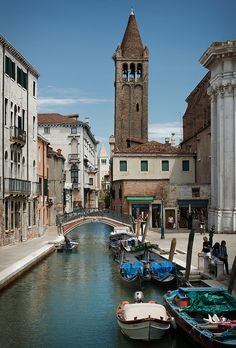 "Campo San Barnaba , Venice, Italy. The door to the right of the bridge is to the little shop where love blossomed in the movie ""Summertime"" with Katheryn Hepburn."