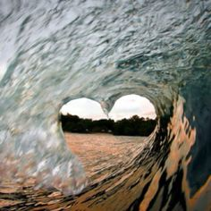 #waves #heart #beach