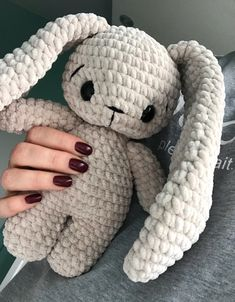 Crochet Toys Bunny & Co by CrochetToysBunnyCo Crochet Kawaii, Cute Crochet, Crochet Crafts, Yarn Crafts, Crochet Geek, Diy Crochet Projects, Cotton Crochet, Crochet Ideas, Crochet Animal Patterns