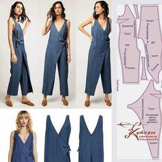Fashion Sewing, Diy Fashion, Ideias Fashion, Origami Fashion, Fashion Details, Sewing Pants, Sewing Clothes, Dress Sewing Patterns, Clothing Patterns