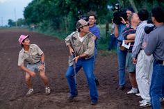 While dove hunting, George W. Bush looks like he just heard the smoke monster, but it was probably a dove.