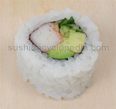 California Roll - so easy to make & tastes amazing. Wraping the nori on the outside is easier and uses less rice but if you are wanting to wow a crowd, definitely stick with the rice on the outside.