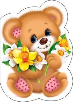18 Ideas Embroidery Designs For Kids Clip Art Cartoon Sketches, Cartoon Pics, Cute Cartoon, Teddy Bear Images, Teddy Bear Pictures, Baby Cards, Kids Cards, Art For Kids, Crafts For Kids