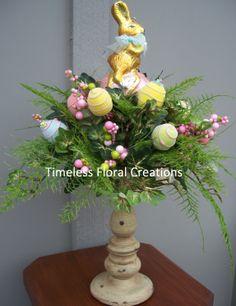 Welcome - Timeless Floral Boutique Easter Flower Arrangements, Artificial Floral Arrangements, Easter Flowers, Easter Crafts, Holiday Crafts, Easter Decor, Easter Wreaths, Cute Crafts, Candle Sticks