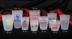 $0.90 a piece Frosted plastic - Personalized Shatterproof Cups 12 oz