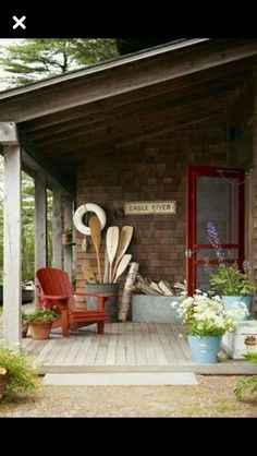 Lake House perfection sign and chair.  Love Eagle River
