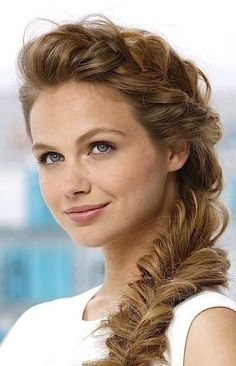 waves with fishtail braid | 2015 Braid hairstyles for Women: French Fishtail Braid / Via