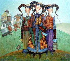 El Hurgador [Arte en la Red]: Zayasaikhan Sambuu (II) [Pintura]