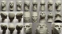 Planes of the Face by docvalentine on Tumblr (Download all 22 images here: http://www.mediafire.com/view/6a4gu147t4lmc4f/John_Asaro_-_Planes_of_the_Head; Download John Asaro's Planes of the Head as one image in 1920x1080: http://loveandhotsauce.net/HD1080/johnasaro-planesofthehead.jpg)