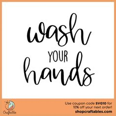 Free Wash Your Hands SVG Cut File SVG cut files for the Silhouette Cameo and Cricut. Craftables: Fast shipping, responsive customer service, and quality products Free Svg Cut Files, Svg Files For Cricut, Best Cricut Machine, Silhouette Cameo Tutorials, Silhouette Design, Silhouette Files, Svg Cuts, Cutting Files, Cricut Design
