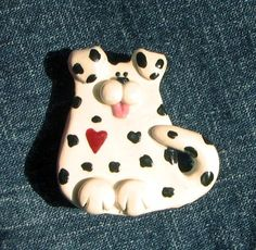 Dalmatian Puppy Dog Pin by JenniferSumnerDesign on Etsy, $12.00