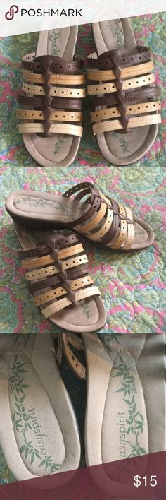 Easy Spirit Sandals Worn once, like new. Very soft, comfortable and lightweight. From smoke free home Easy Spirit Shoes