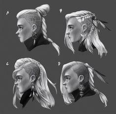Resultado de imagen para hairstyle ideas for evil characters